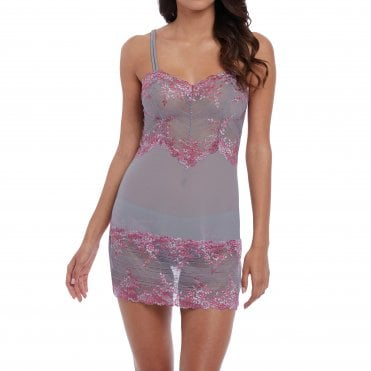 1f0817422 Embrace Lace Chemise in Lilac Grey Multi
