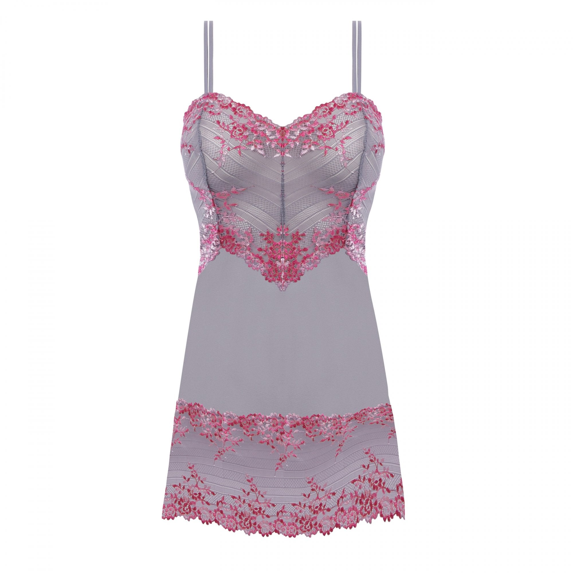1984c5a91 Embrace Lace Chemise in Lilac Grey/Multi | Collen & Clare