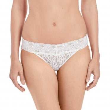 Halo Lace Bikini Brief in Ivory