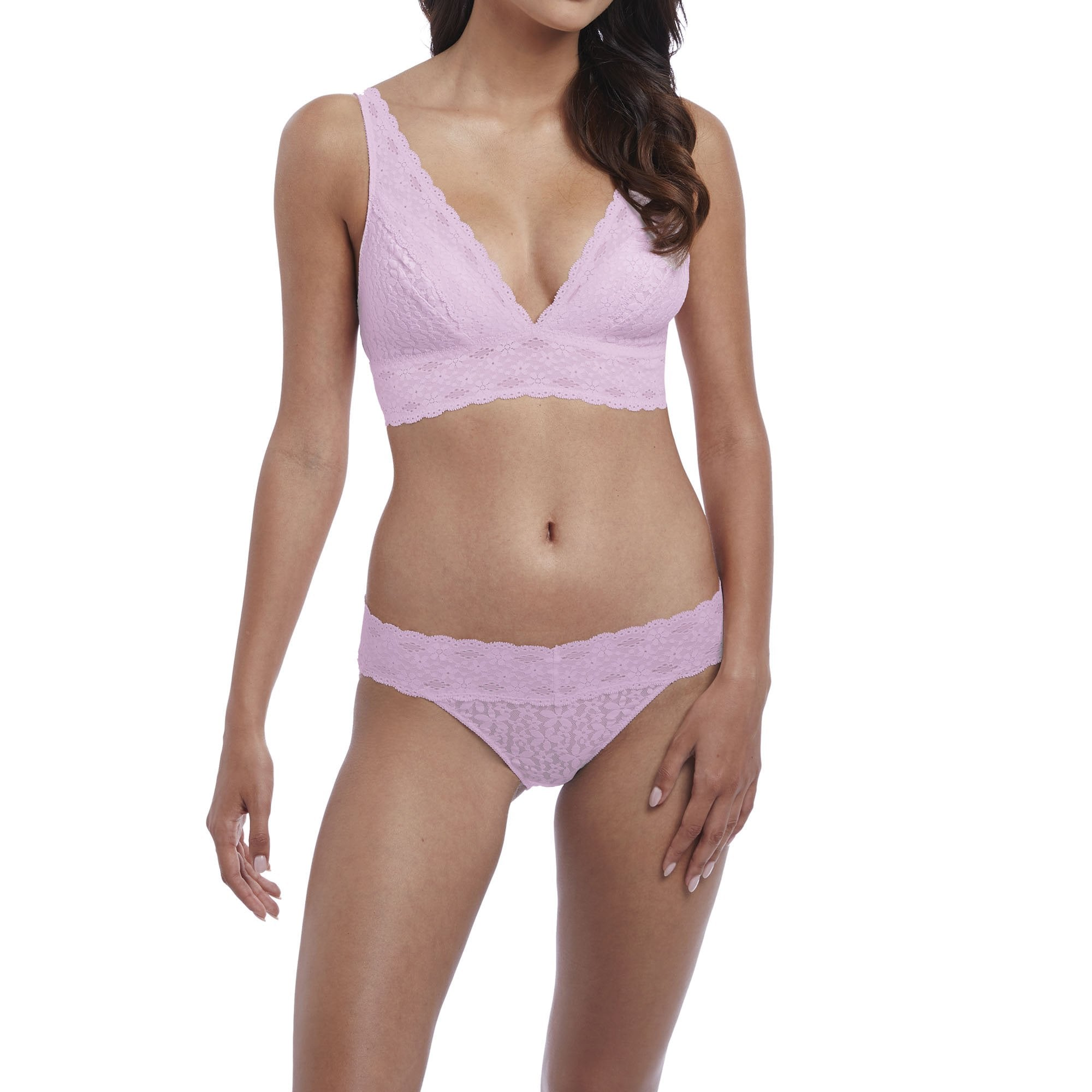 13925462ab WACOAL Halo Lace Soft Cup Bra in Sweet Pink