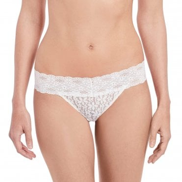 Halo Lace Thong in Ivory