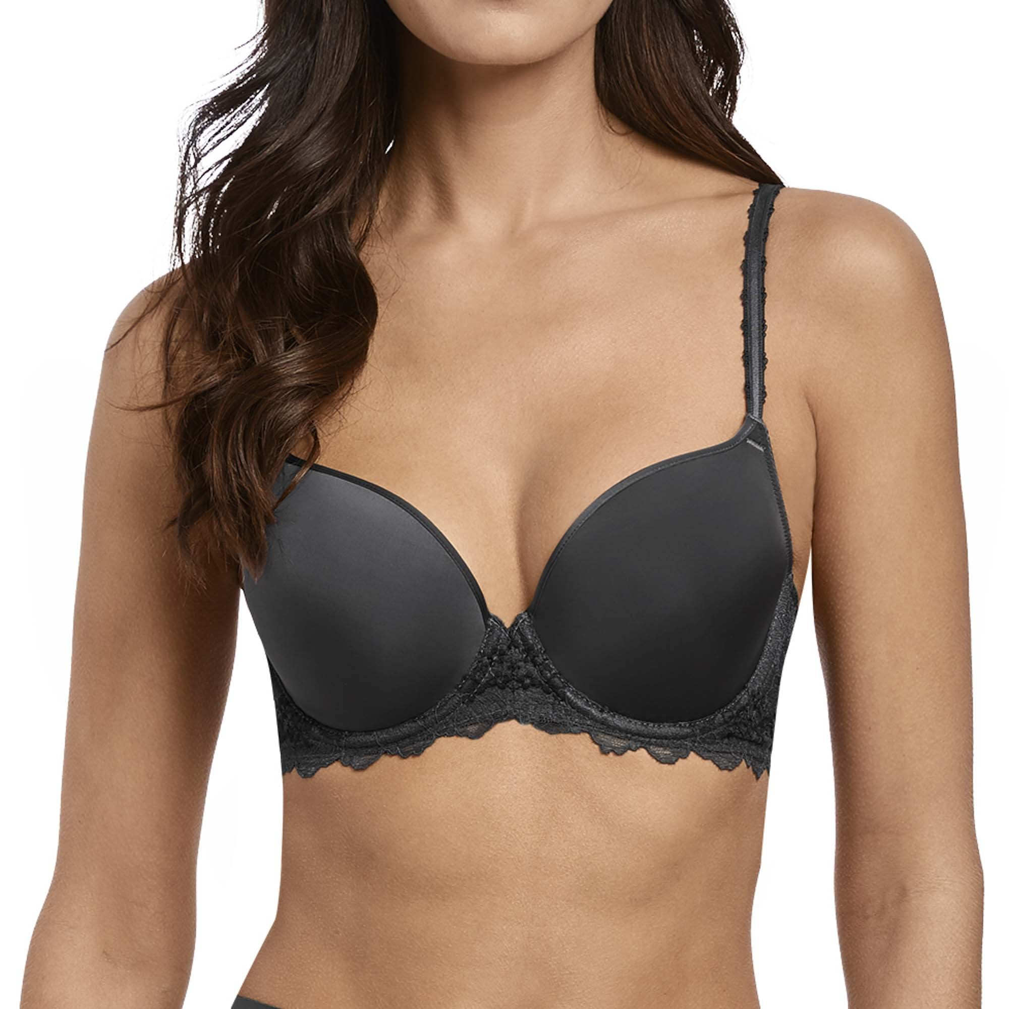 2b6eb0a3e Wacoal Lace Perfection Contour Bra In Charcoal