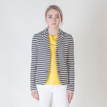 Agro Jersey Stripe Jacket in Ultramarine