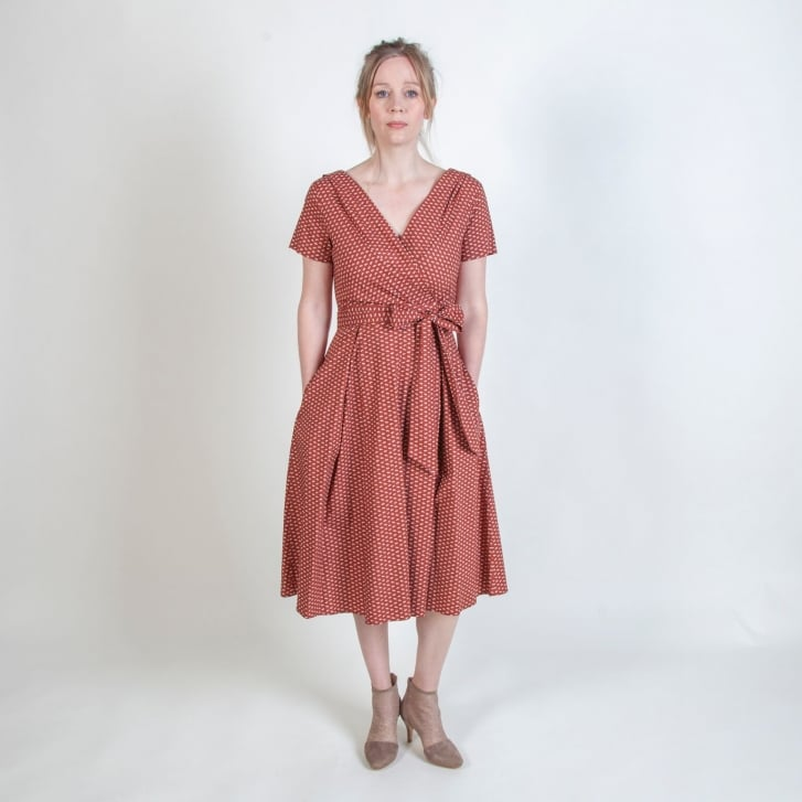 WEEKEND MAXMARA Amaca Cotton Dress in Brown