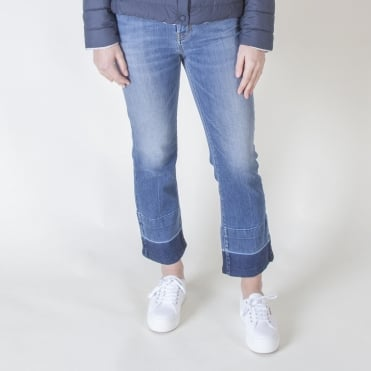 Ario Denim Crop with Distressed Cuff