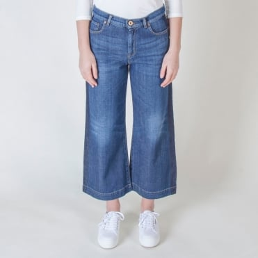 Badesse Wide Leg Denim Pant in Ultramarine