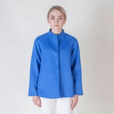 Foligno Short Swing Coat in Cornflower Blue
