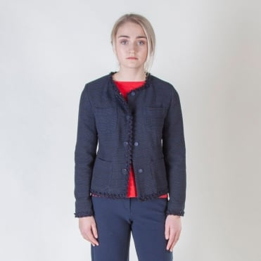 Fulcro Boucle Jacket in Ultramarine