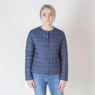 Locarno Reversible Short Quilted Jacket in Ultramarine