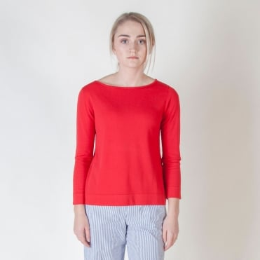 Norma Round Neck Knit in Red