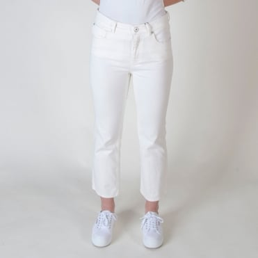Romania Straight Leg Jean in White