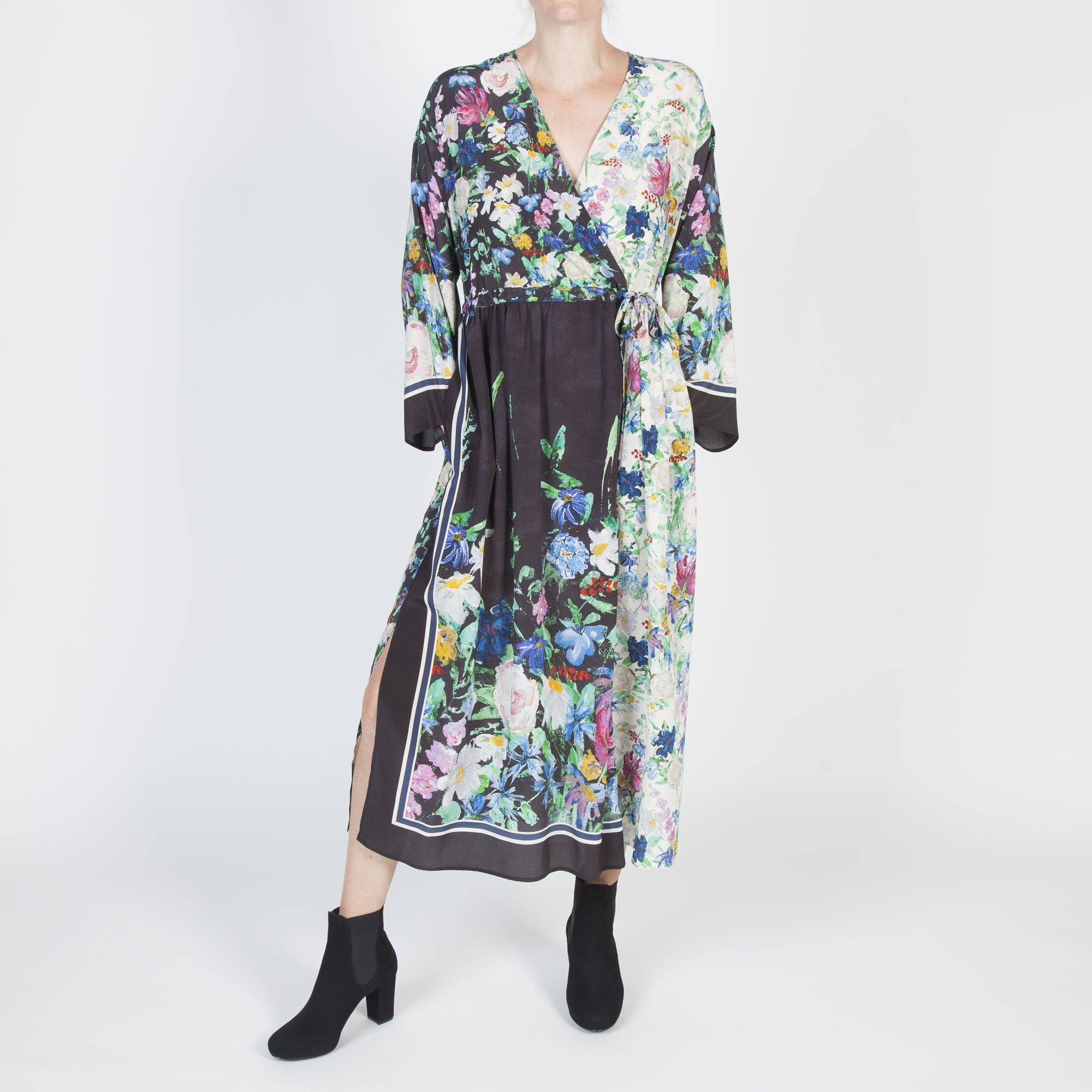 8e8c60b183bd9 S Max Mara Smalto Silk Floral Dress in Black Multi | Collen & Clare