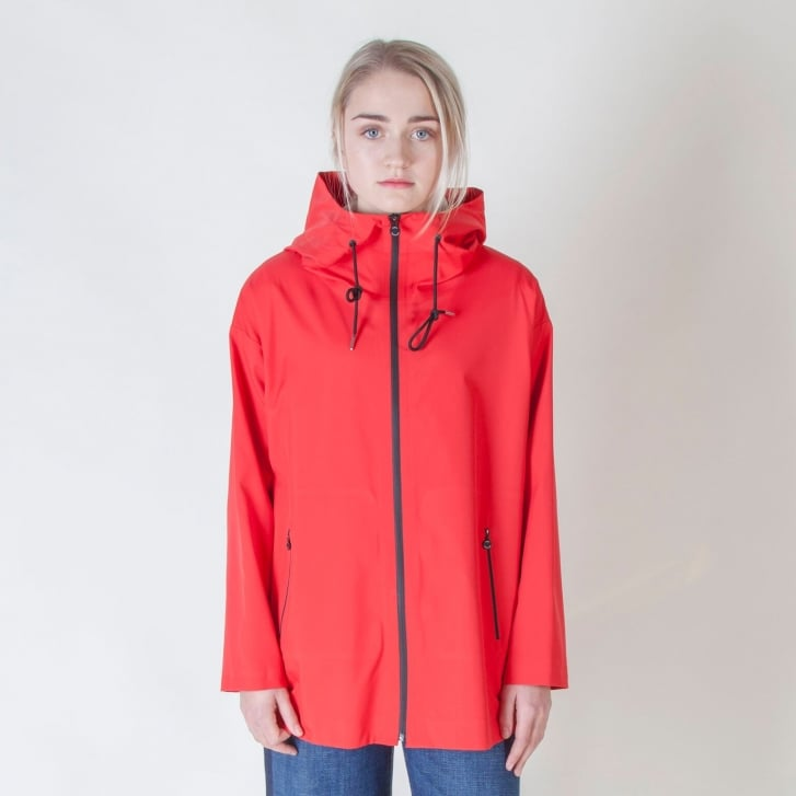 WEEKEND MAXMARA Teatino Weather Resistant Coat in Red