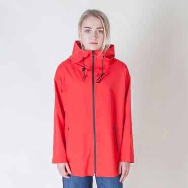 Teatino Weather Resistant Coat in Red