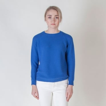 Valery Cotton Knit in Cornflower Blue