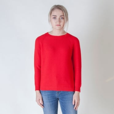 Valery Cotton Knit in Red