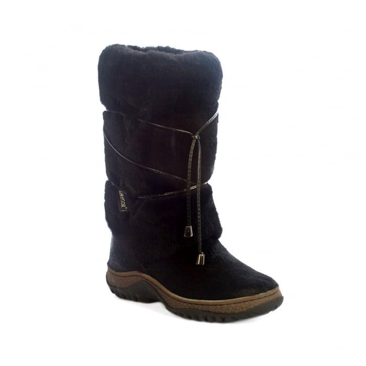 SIBERIAN CHIC Whistler Tall Sheepskin Tassel Boot