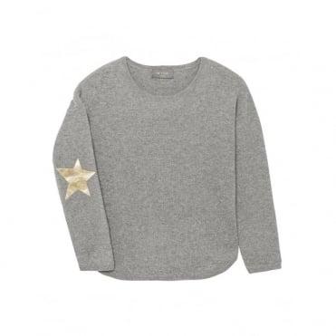 Juliet Star Jumper in Grey/Gold