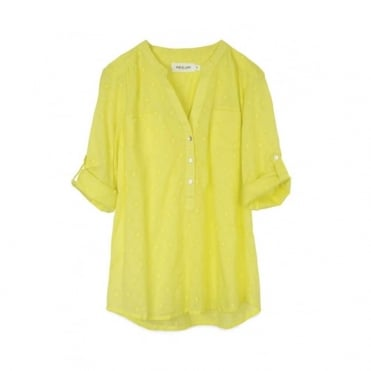 Yellow Dot Stitch Tunic