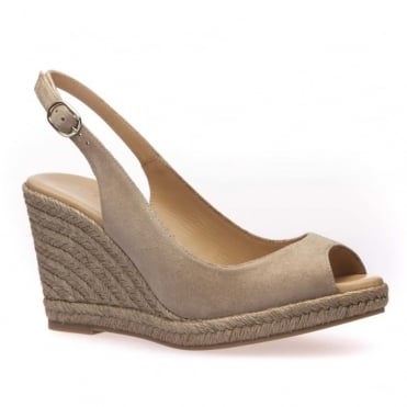 Ana Suede Wedge Espadrille